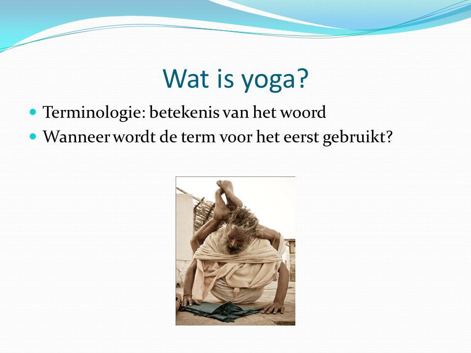 Wat is yoga Terminologie: betekenis van het woord