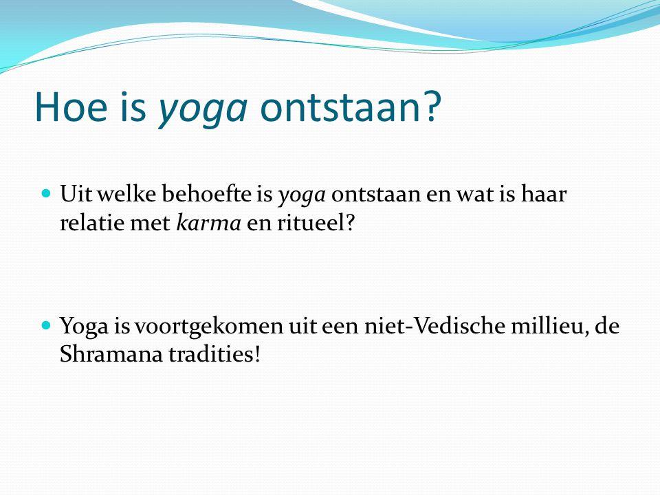 Hoe is yoga ontstaan Uit welke behoefte is yoga ontstaan en wat is haar relatie met karma en ritueel
