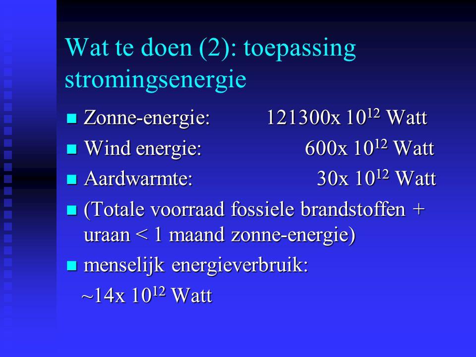 Wat te doen (2): toepassing stromingsenergie