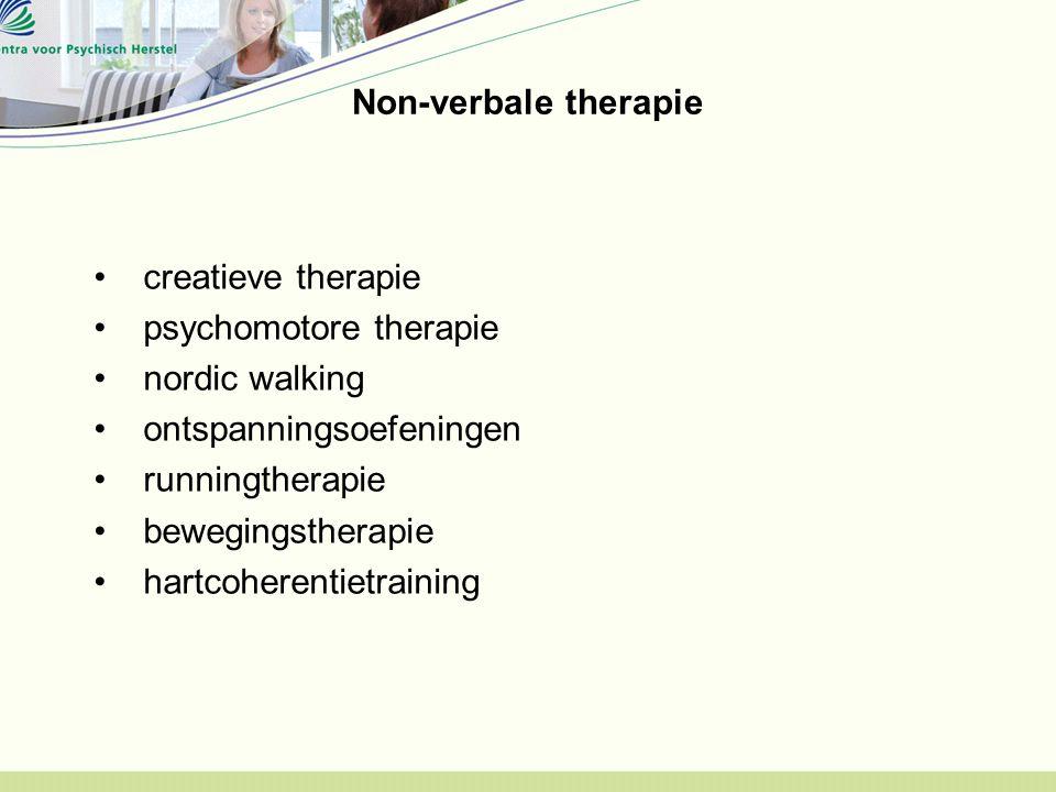 Non-verbale therapie creatieve therapie. psychomotore therapie. nordic walking. ontspanningsoefeningen.