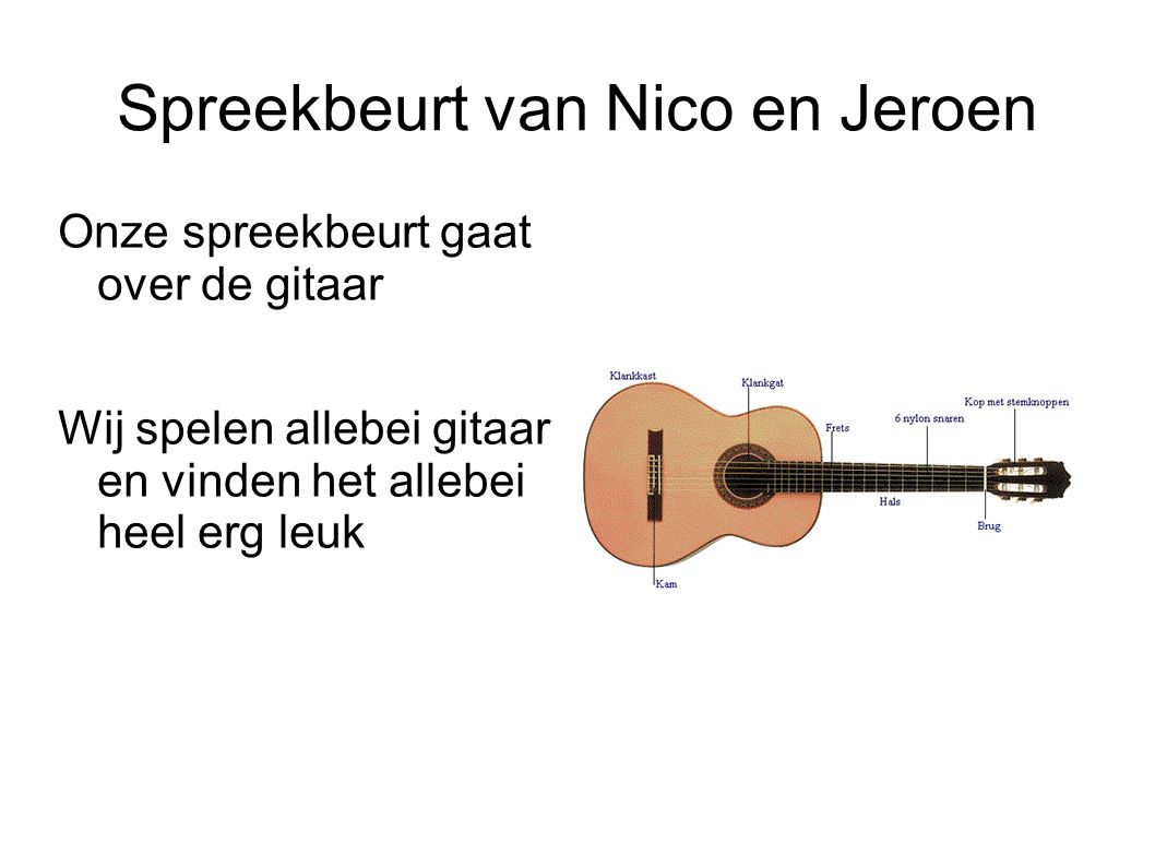 Spreekbeurt van Nico en Jeroen