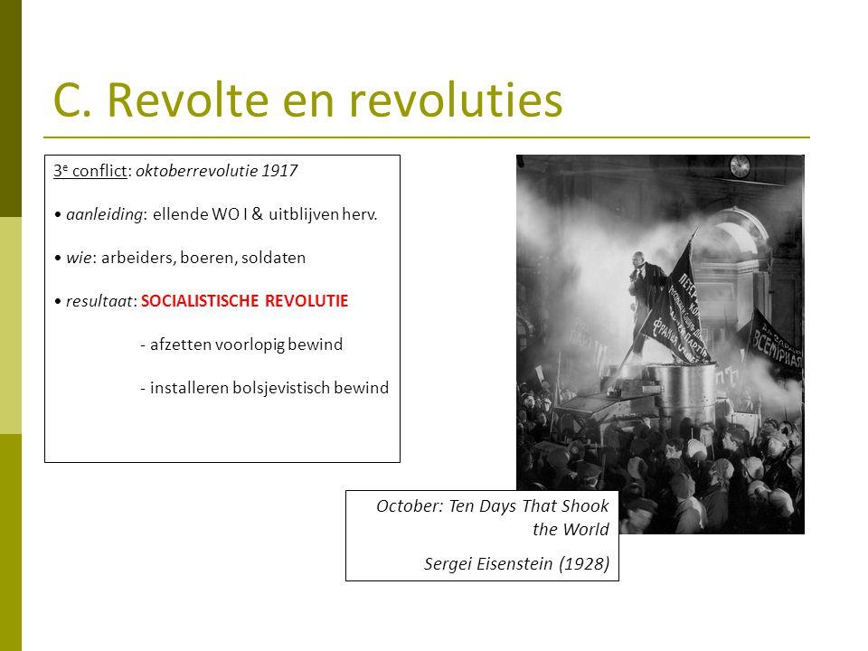 C. Revolte en revoluties