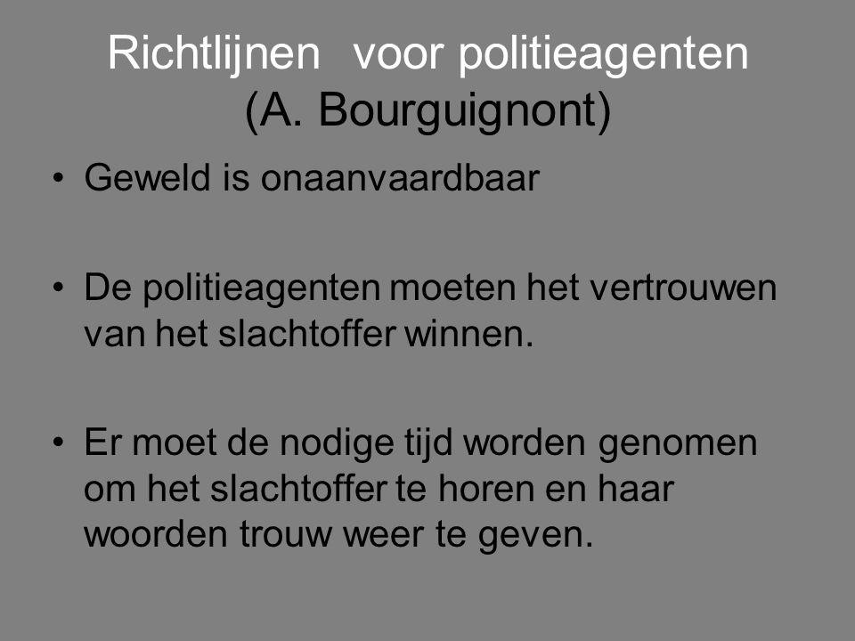 Richtlijnen voor politieagenten (A. Bourguignont)