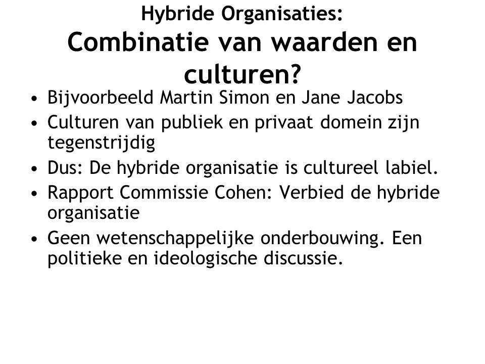 Hybride Organisaties: Combinatie van waarden en culturen