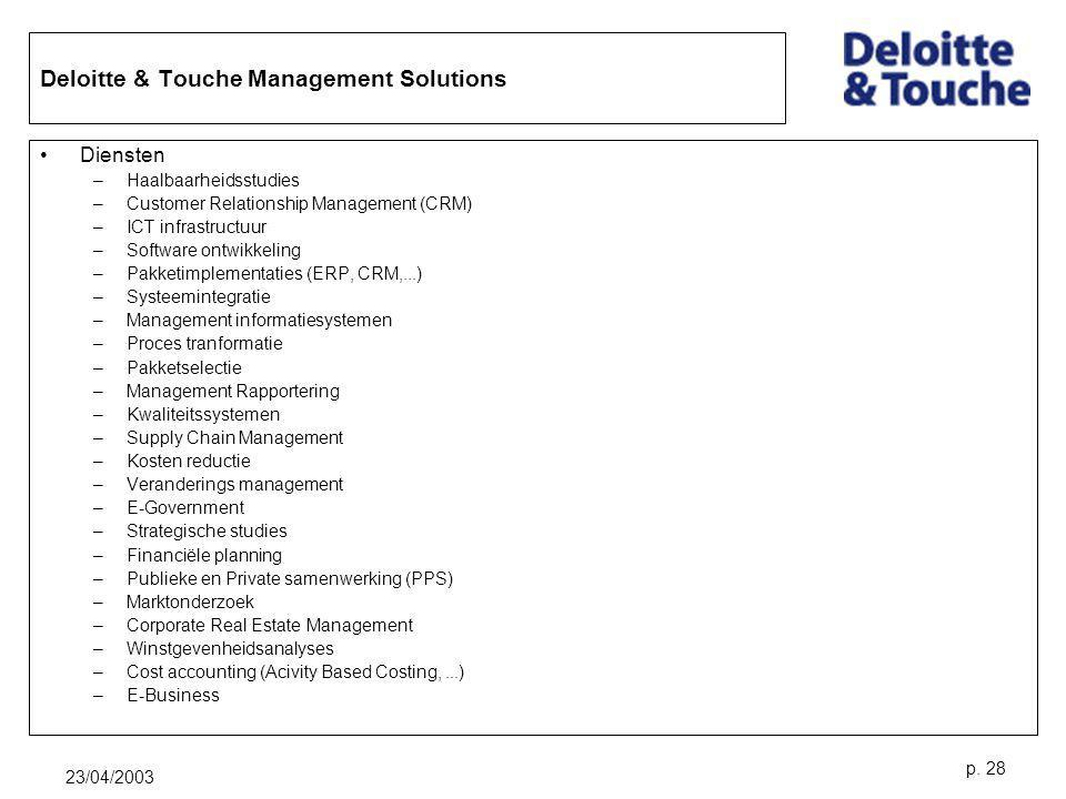 Deloitte & Touche Management Solutions