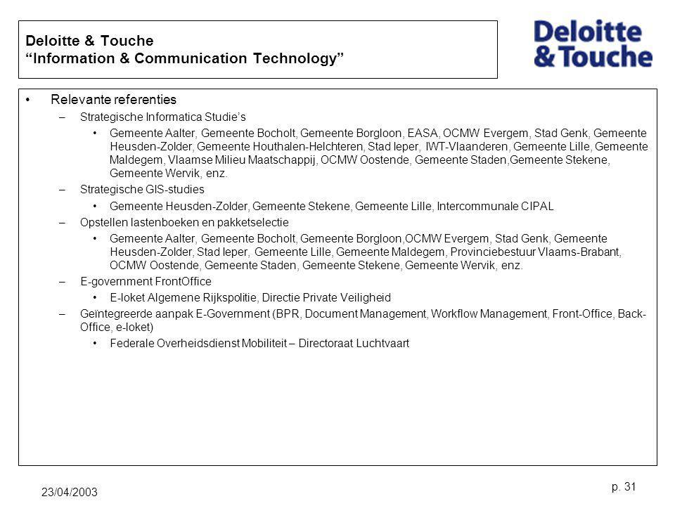 Deloitte & Touche Information & Communication Technology