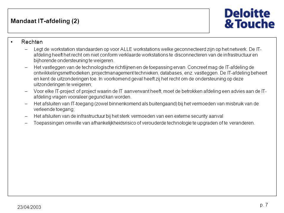 Mandaat IT-afdeling (2)
