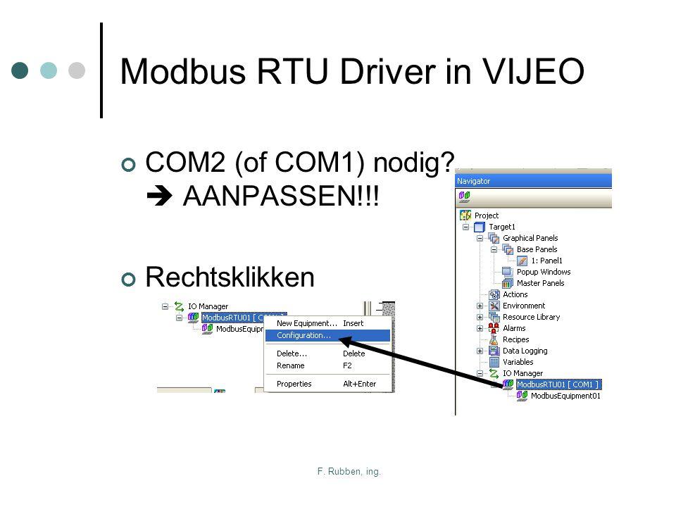 Modbus RTU Driver in VIJEO