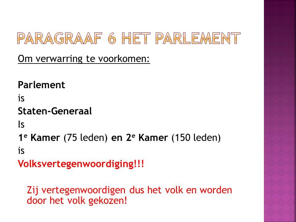 Paragraaf 6 Het parlement