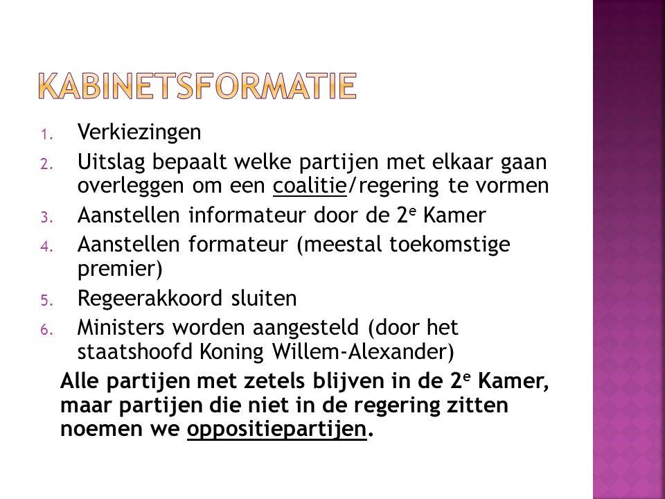 Kabinetsformatie Verkiezingen