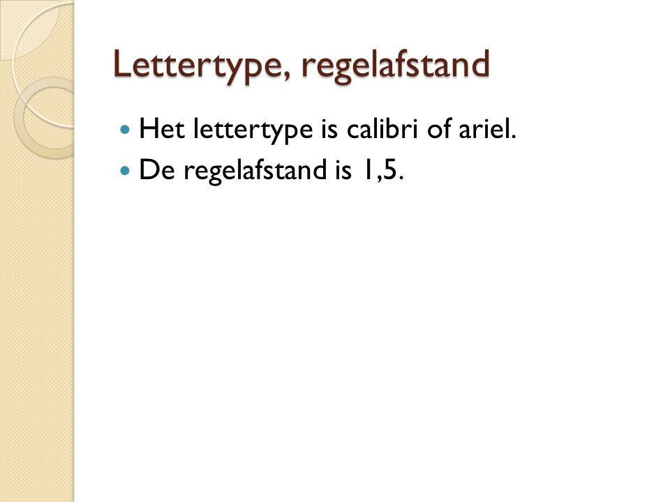 Lettertype, regelafstand