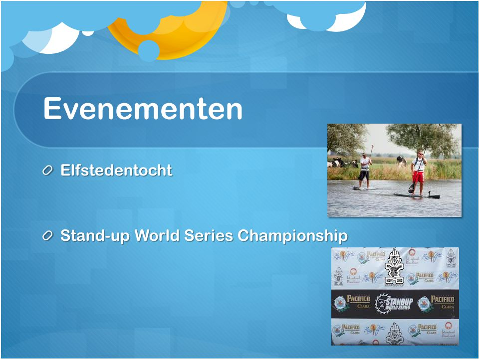 Evenementen Elfstedentocht Stand-up World Series Championship