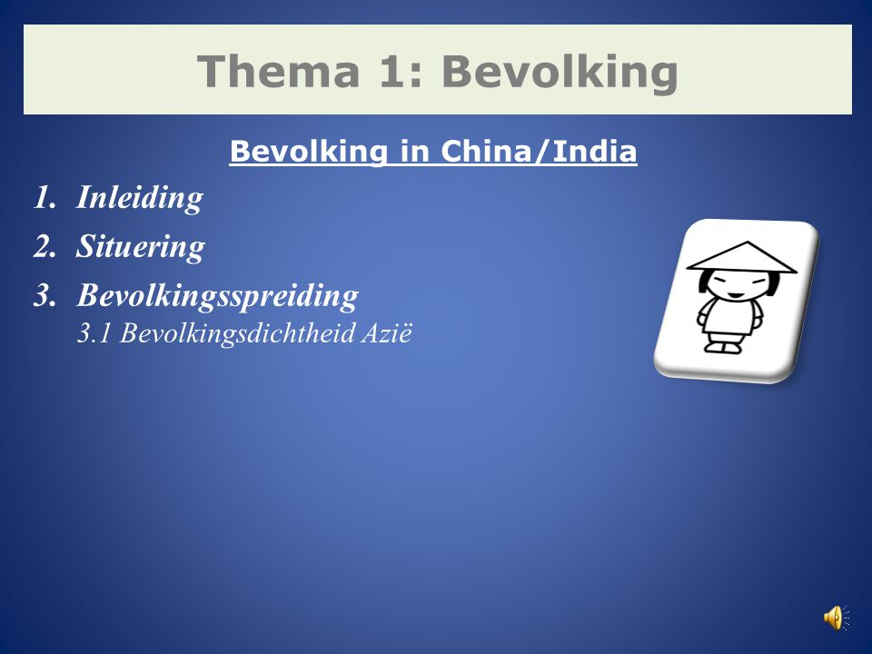 Bevolking in China/India