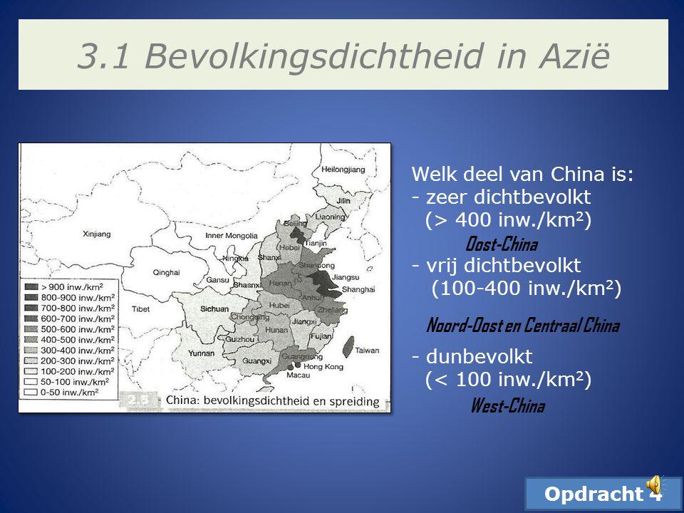 3.1 Bevolkingsdichtheid in Azië