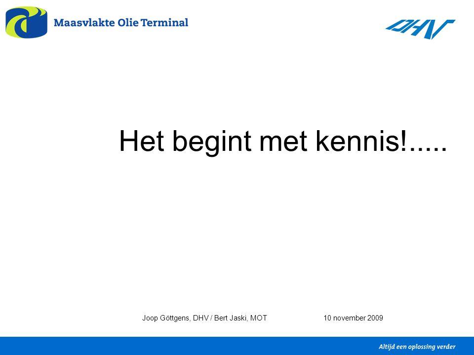 Het begint met kennis!..... Joop Göttgens, DHV / Bert Jaski, MOT