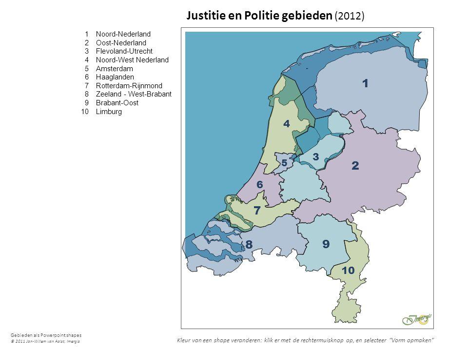 Justitie en Politie gebieden (2012)