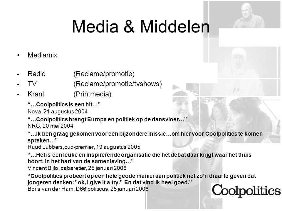 Media & Middelen Mediamix - Radio (Reclame/promotie)