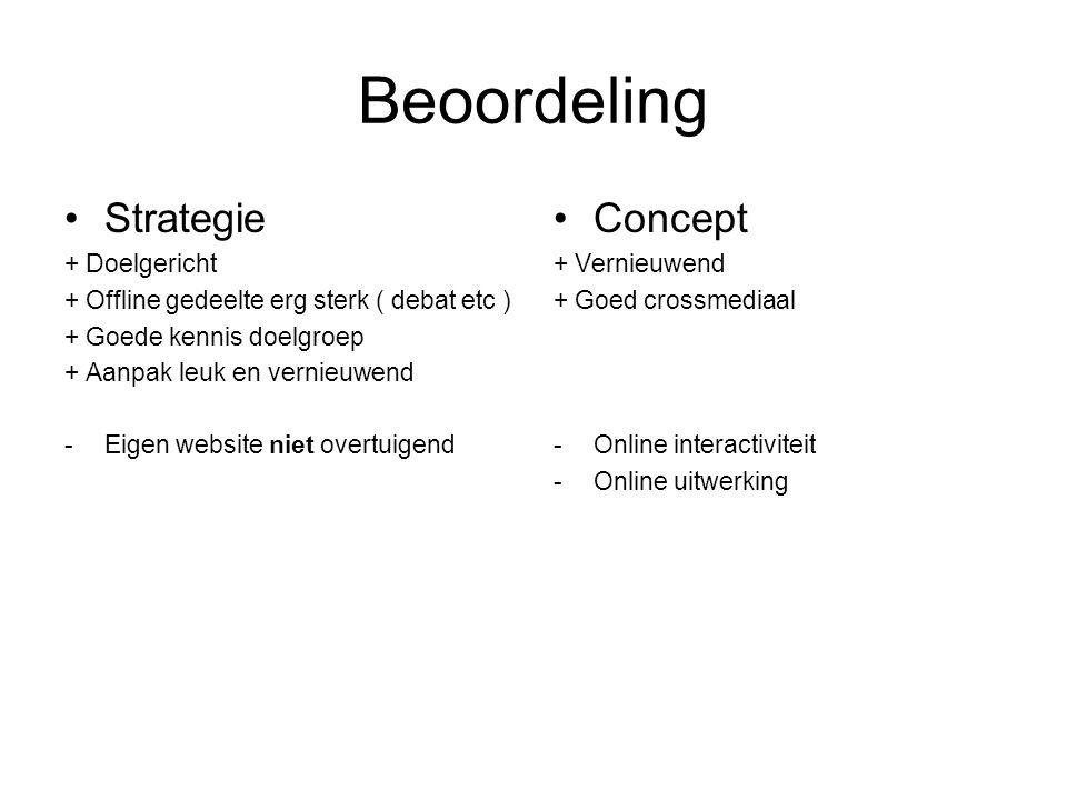 Beoordeling Strategie Concept + Doelgericht