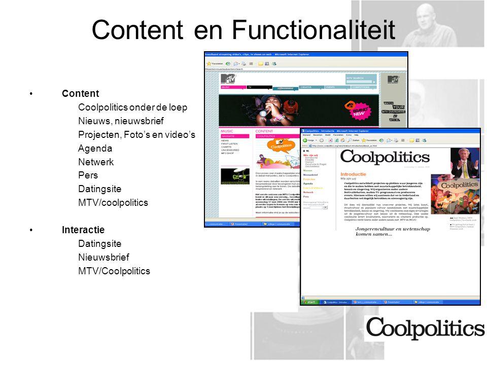 Content en Functionaliteit
