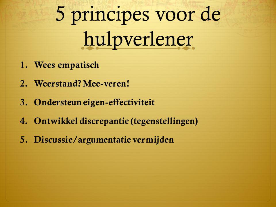 5 principes voor de hulpverlener