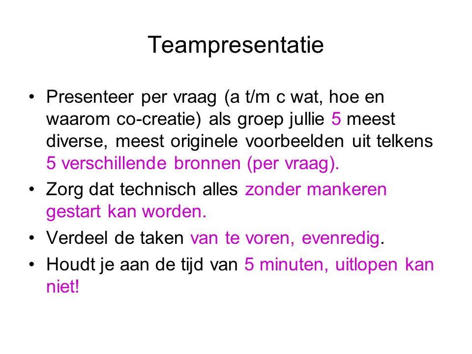Teampresentatie