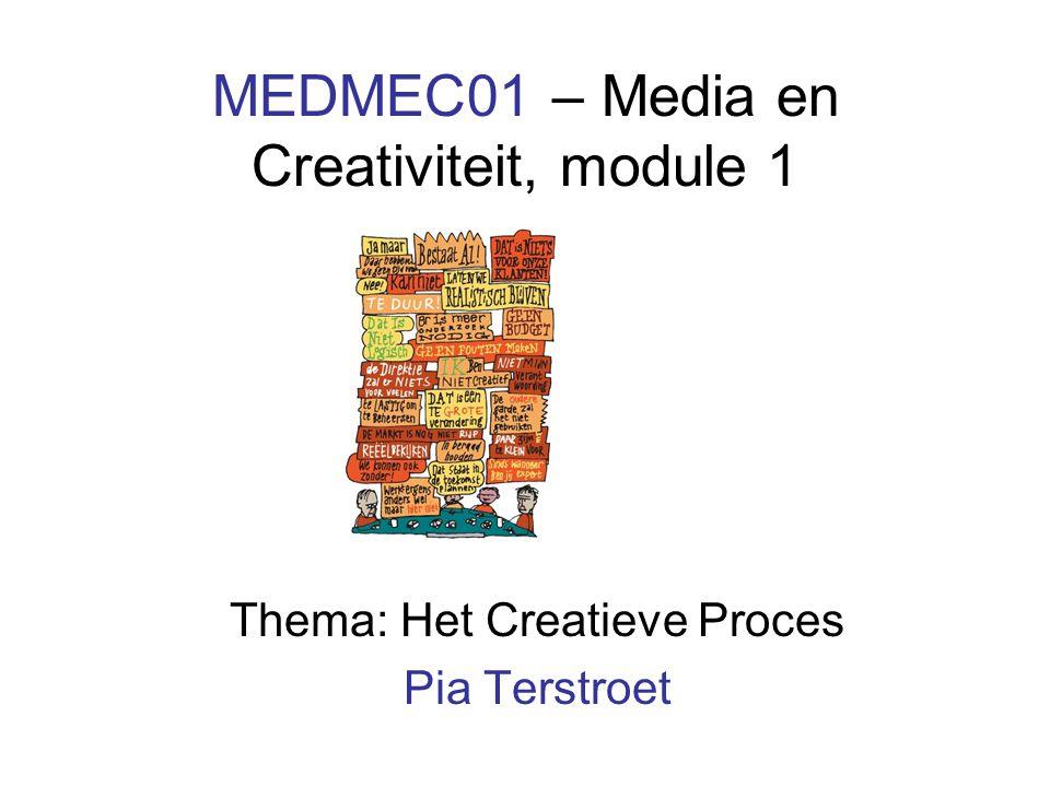 MEDMEC01 – Media en Creativiteit, module 1