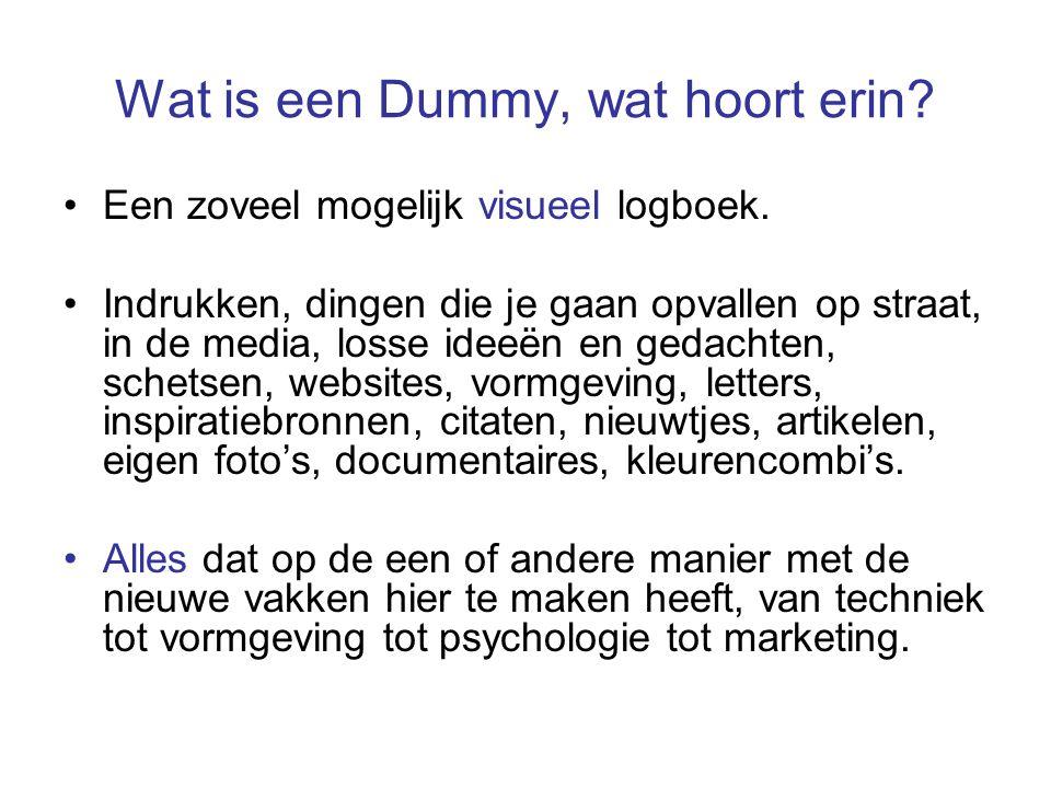 Wat is een Dummy, wat hoort erin