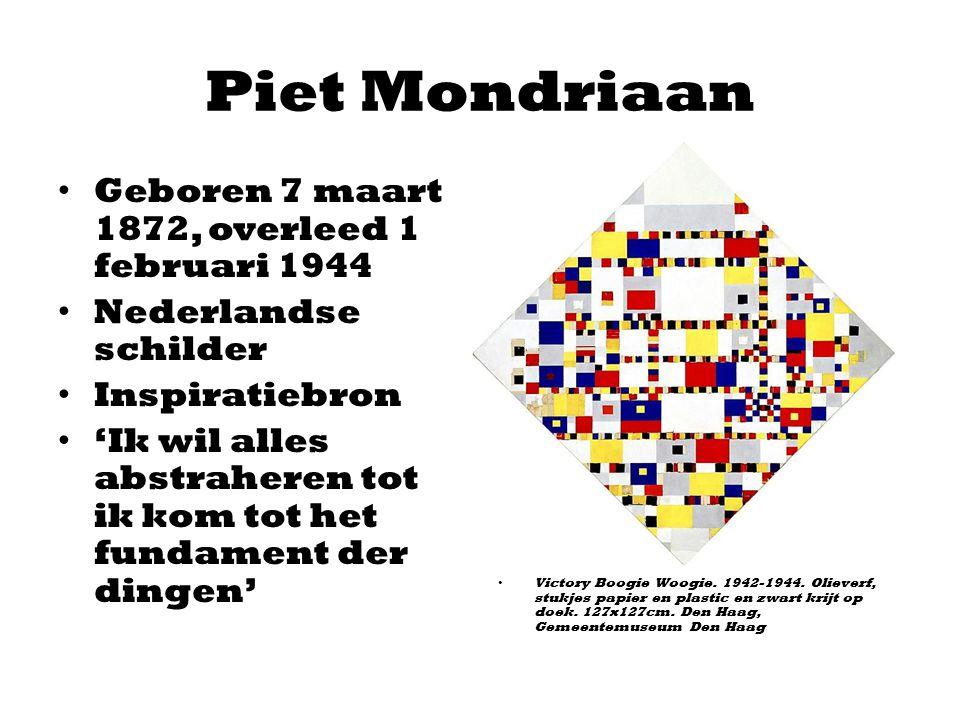 Piet Mondriaan Geboren 7 maart 1872, overleed 1 februari 1944