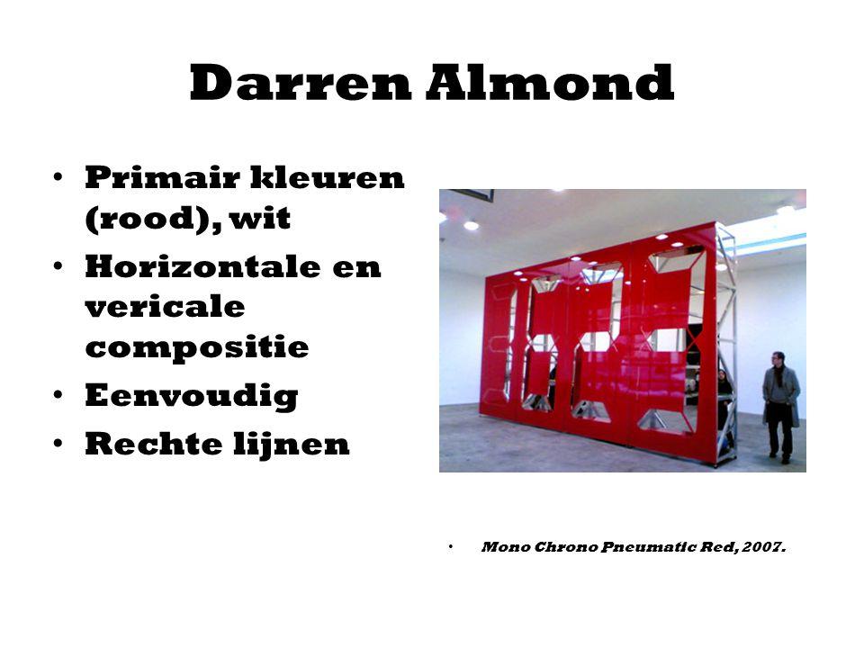Darren Almond Primair kleuren (rood), wit