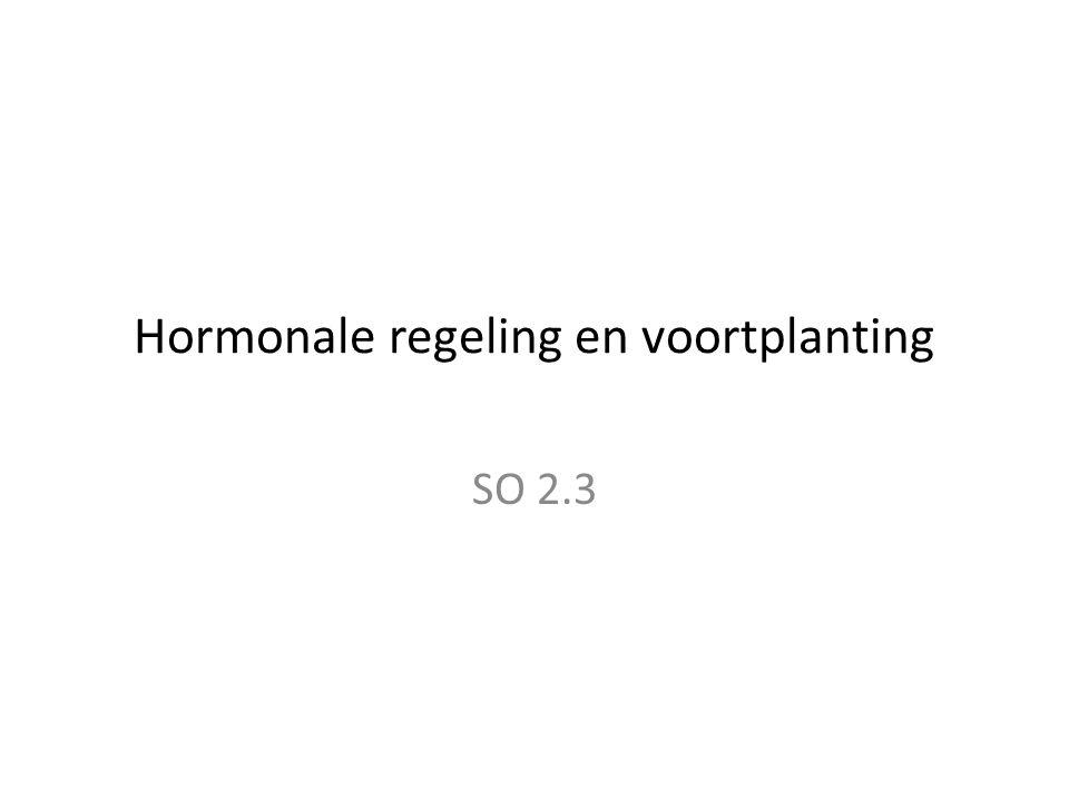 Hormonale regeling en voortplanting