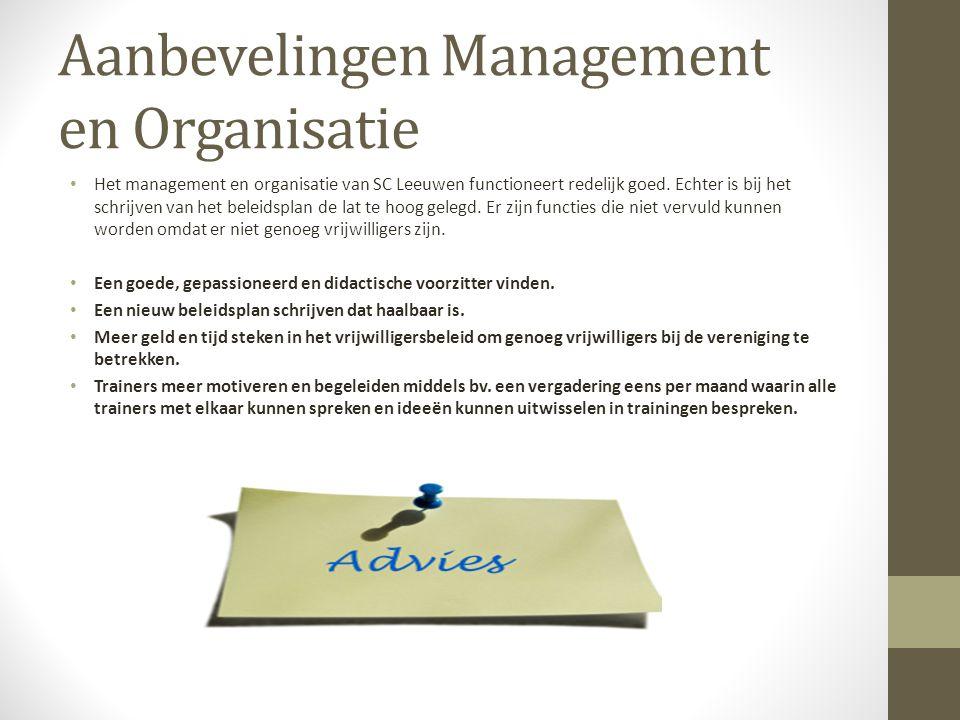 Aanbevelingen Management en Organisatie