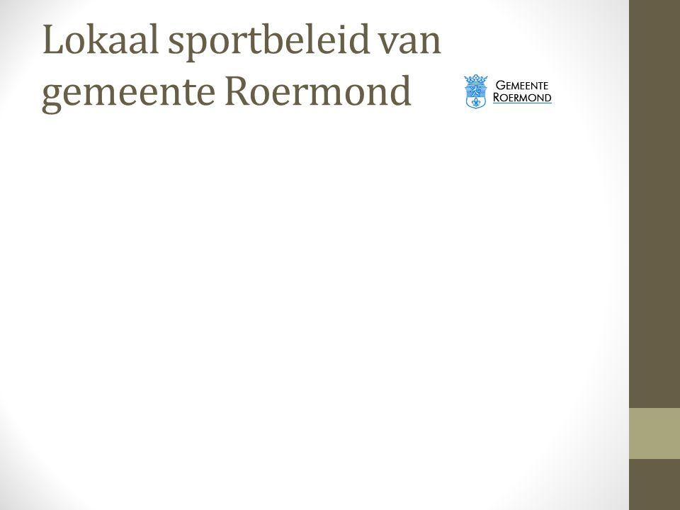 Lokaal sportbeleid van gemeente Roermond