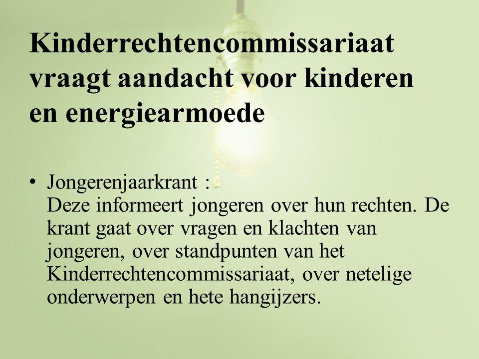 Kinderrechtencommissariaat vraagt aandacht voor kinderen en energiearmoede