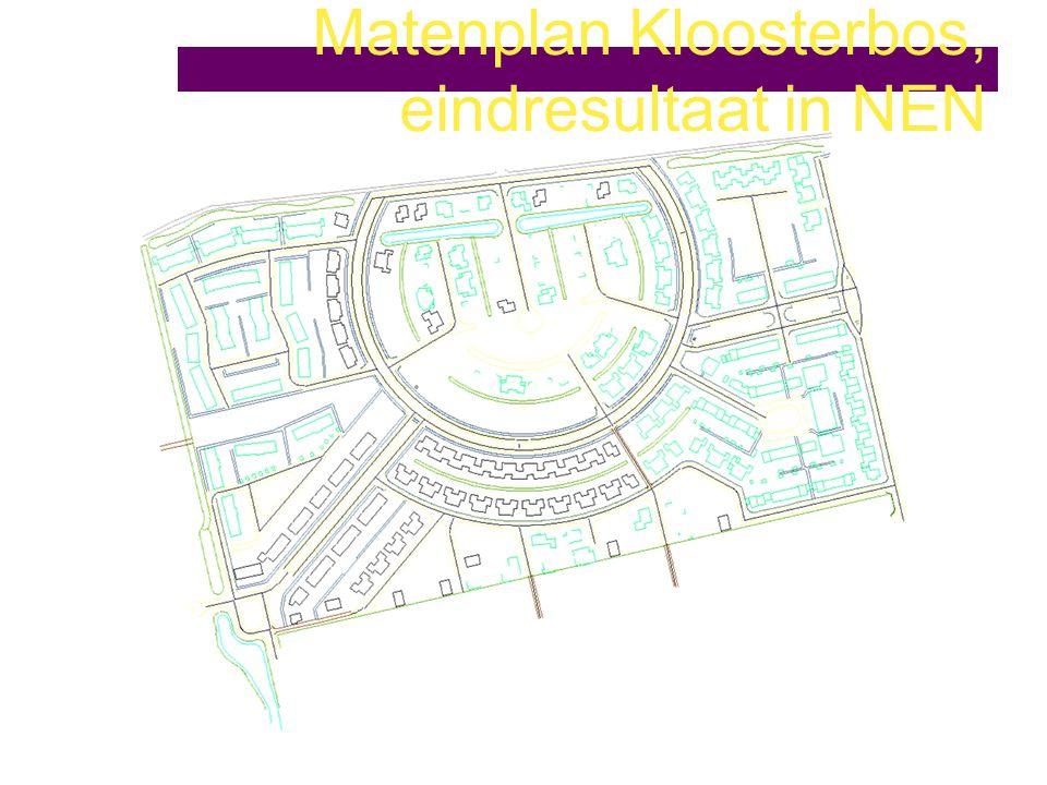 Matenplan Kloosterbos, eindresultaat in NEN