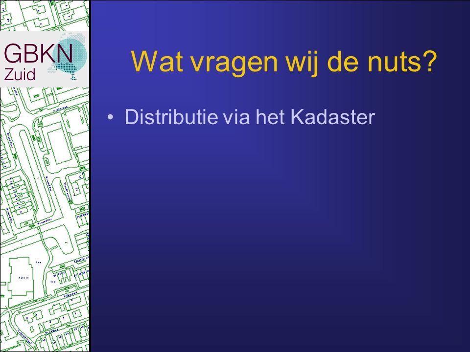 Wat vragen wij de nuts Distributie via het Kadaster
