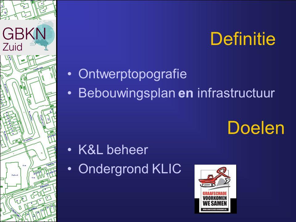 Definitie Doelen Ontwerptopografie Bebouwingsplan en infrastructuur