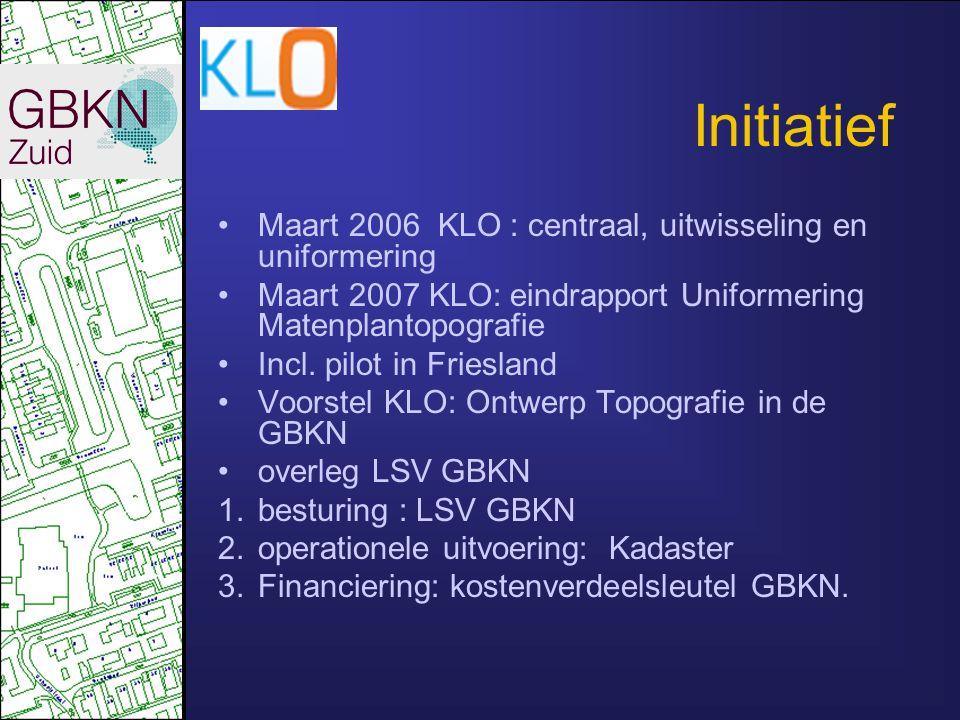 Initiatief Maart 2006 KLO : centraal, uitwisseling en uniformering