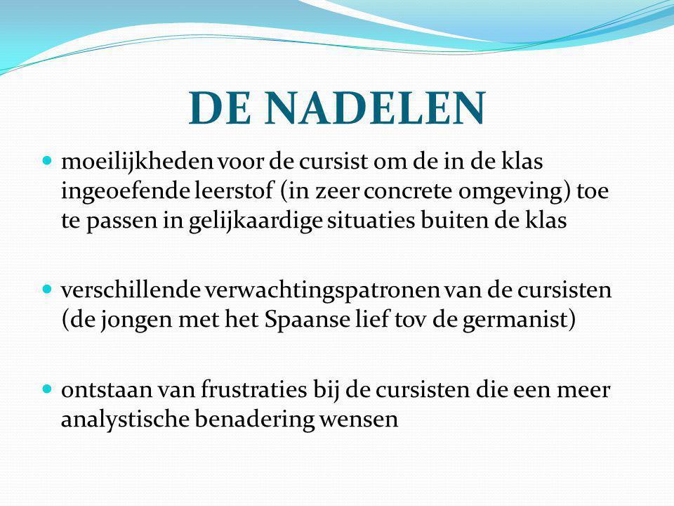 DE NADELEN
