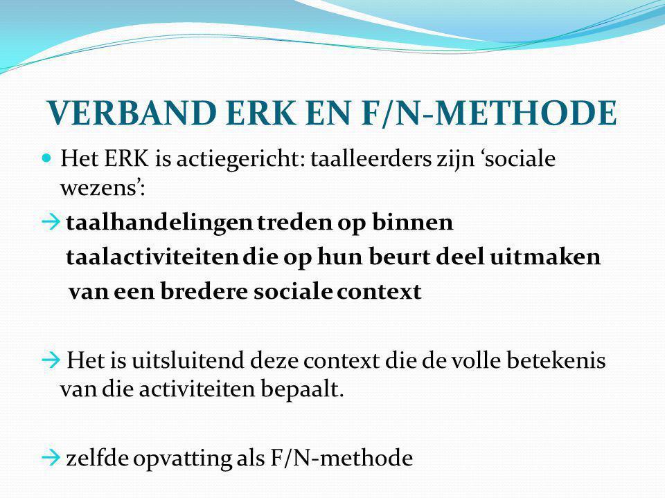 VERBAND ERK EN F/N-METHODE