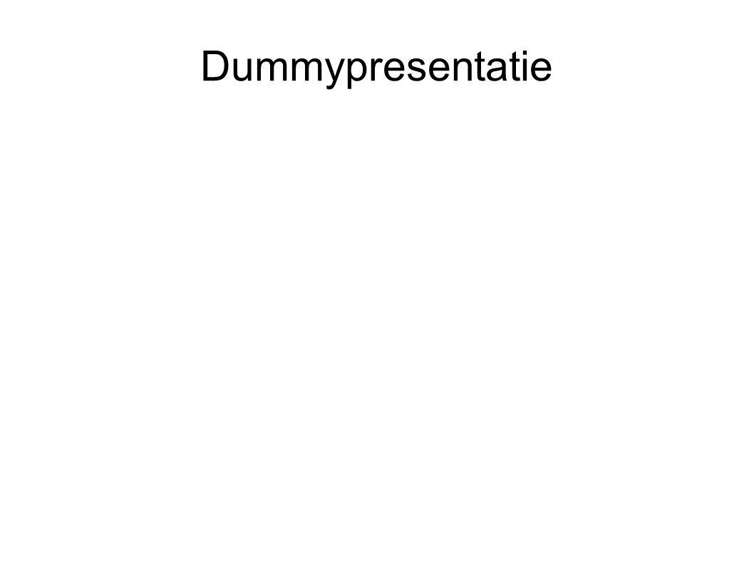 Dummypresentatie
