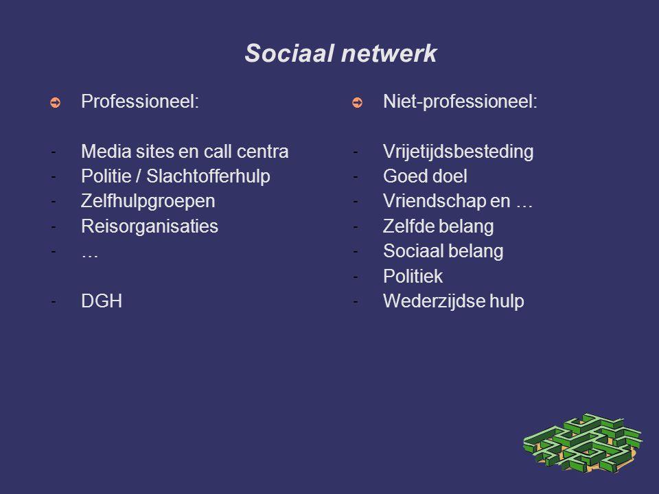 Sociaal netwerk Professioneel: Media sites en call centra