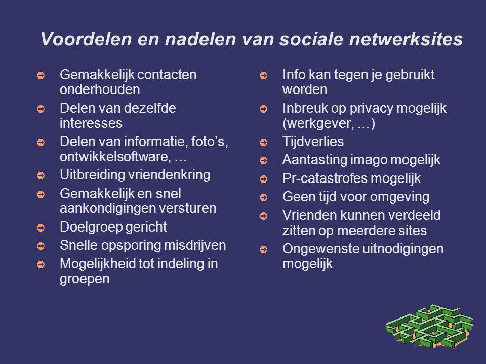 Voordelen en nadelen van sociale netwerksites