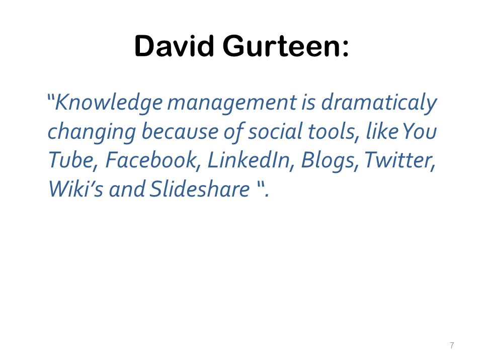 David Gurteen: