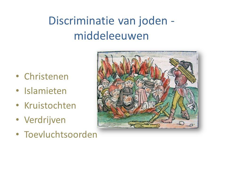 Discriminatie van joden - middeleeuwen