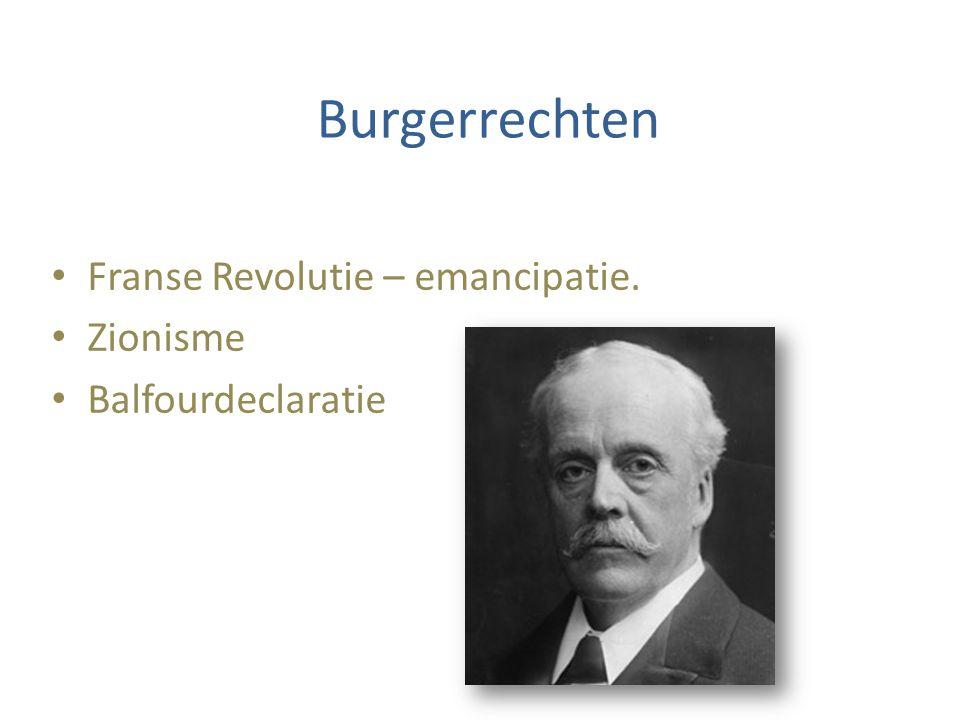 Burgerrechten Franse Revolutie – emancipatie. Zionisme