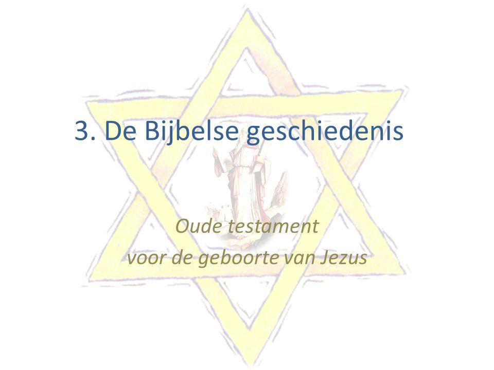 3. De Bijbelse geschiedenis