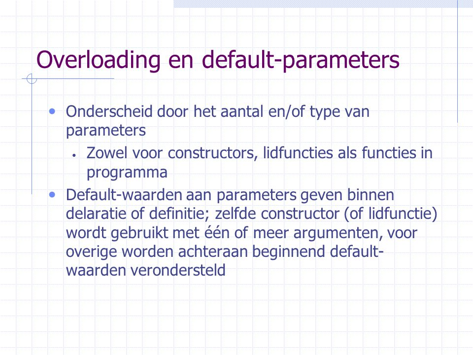 Overloading en default-parameters
