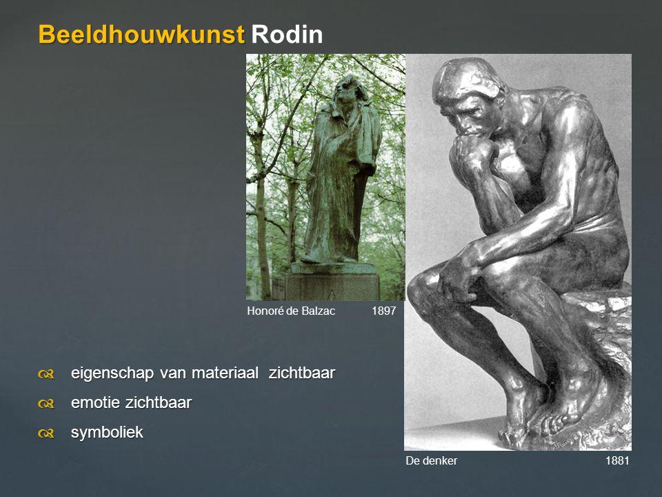 Beeldhouwkunst Rodin d eigenschap van materiaal zichtbaar