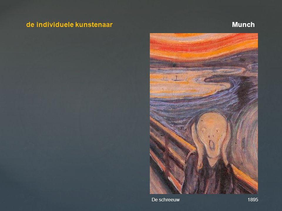 de individuele kunstenaar Munch