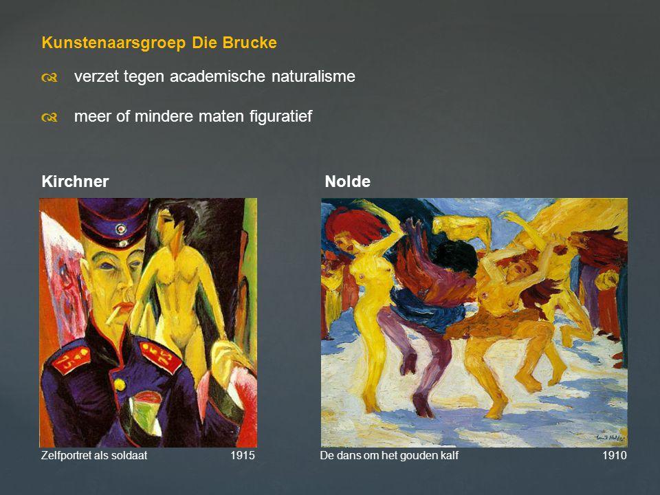 Kunstenaarsgroep Die Brucke d verzet tegen academische naturalisme